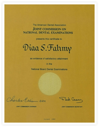 Satisfactory Attainment in the National Board of Dental Examinations